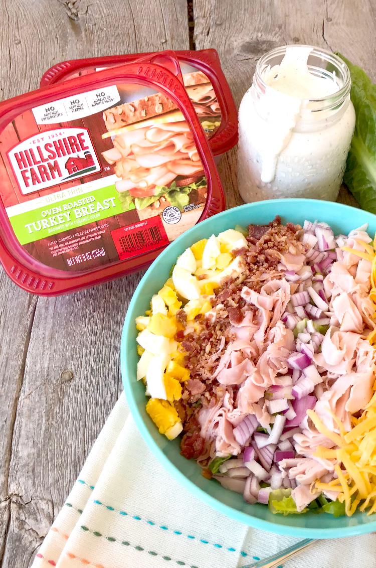 Cobb Salad With Homemade Blue Cheese Dressing Pink Cake