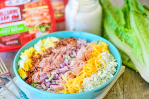 Cobb Salad with Homemade Blue Cheese Dressing
