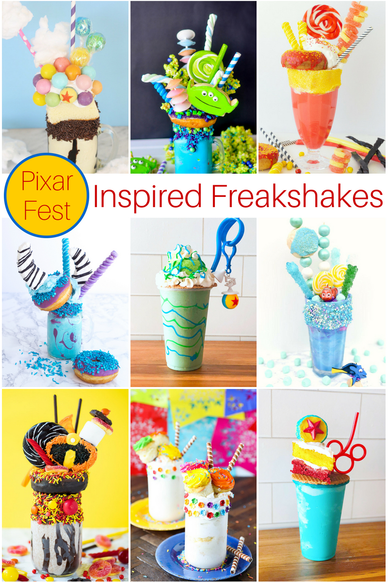 I was so excited when a few of us decided to have a Pixar Fest inspired Freak Shake Blog Hop! One of my favorite Pixar characters is the Little Green Alien from Toy Story so I had to make this Toy Story Alien Freak Shake.