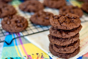 Chocolate Chocolate Chip Muffin Mix Cookies