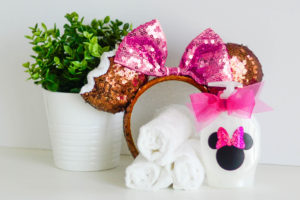 DIY Minnie Mouse Soap Dispenser