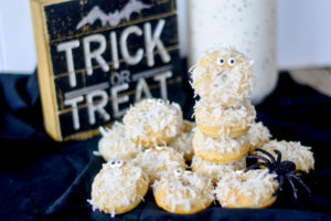 Baked Halloween Ghostly Donuts