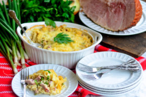 Ham and Swiss Pasta Bake
