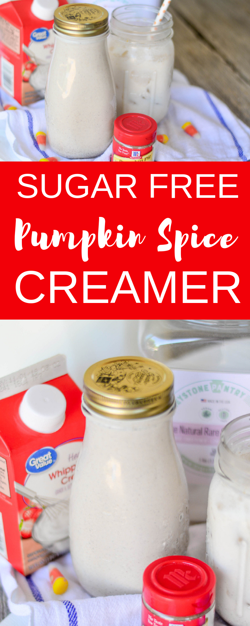 Sugar Free Pumpkin Spice Creamer collage