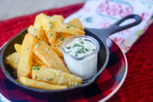 12 Days of Christmas Garlic Parmesan Steak Fries
