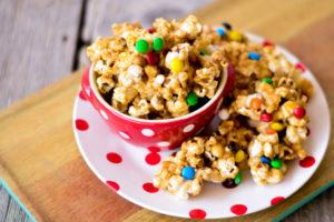 Sticky Peanut Butter Popcorn
