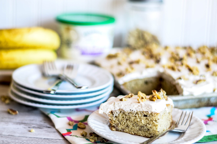 Sour Cream Banana Snack Cake