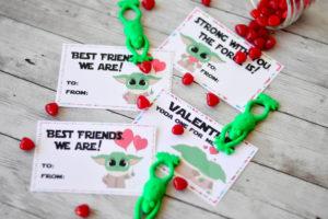 FREE Baby Yoda Valentine Printable